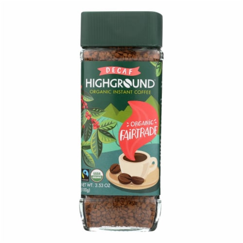 Highground - Coffee Decaf Instant - Case of 6 - 3.53 OZ Perspective: front