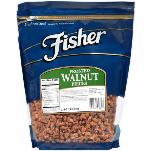 Fisher Chefs Naturals Frosted Medium Walnut Piece, 2 Pound -- 3 per case. Perspective: front