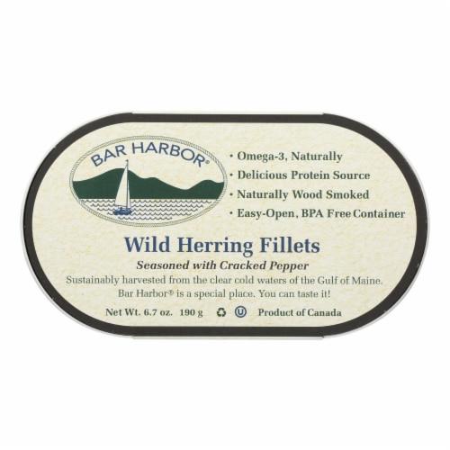 Bar Harbor - Wild Herring Fillets - Cracked Pepper - Case of 12 - 6.7 oz. Perspective: front