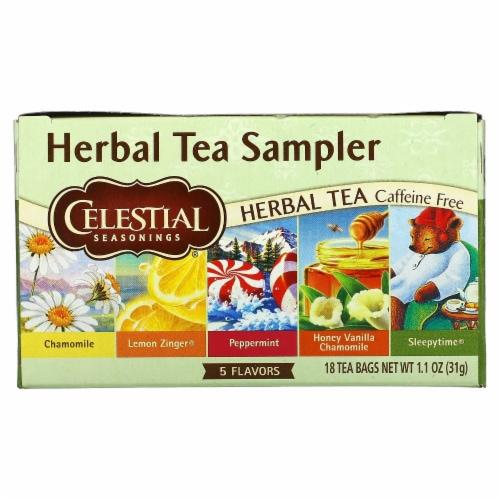 Celestial Seasonings Herbal Tea - Sampler - Case of 6 - 18 BAG Perspective: front