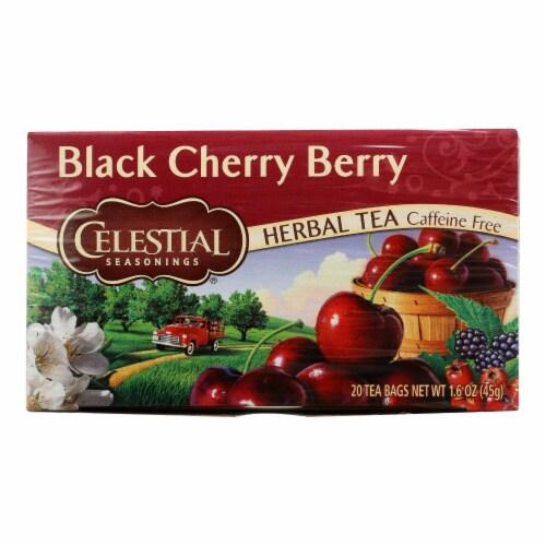 Celestial Seasonings Herbal Tea - Black Cherry Berry - Caffeine Free - 20 Bags Perspective: front
