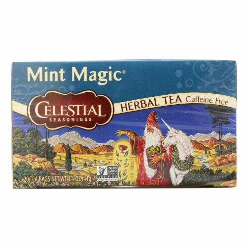 Celestial Seasonings Herbal Tea - Mint Magic - 20 Bags Perspective: front