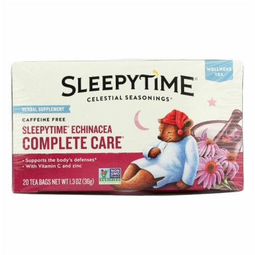Celestial Seasonings Sleepytime Echinacea Complete Care Wellness Tea -20 Tea Bags - Case of 6 Perspective: front
