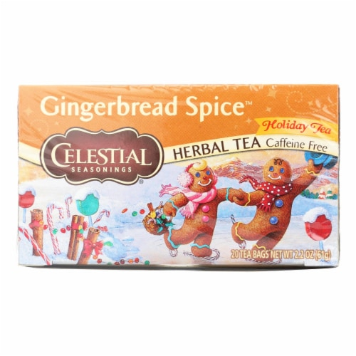 Celestial Seasonings Gingerbread Spice Holiday Tea - Case of 6 - 20 BAG Perspective: front
