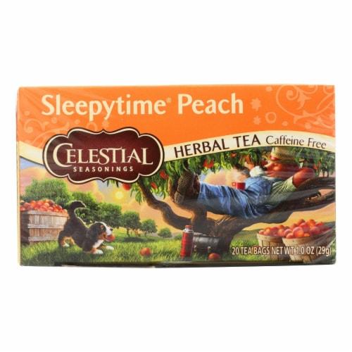Celestial Seasonings Herbal Tea Sleepytime P - Case of 6 - 20 Bag Perspective: front