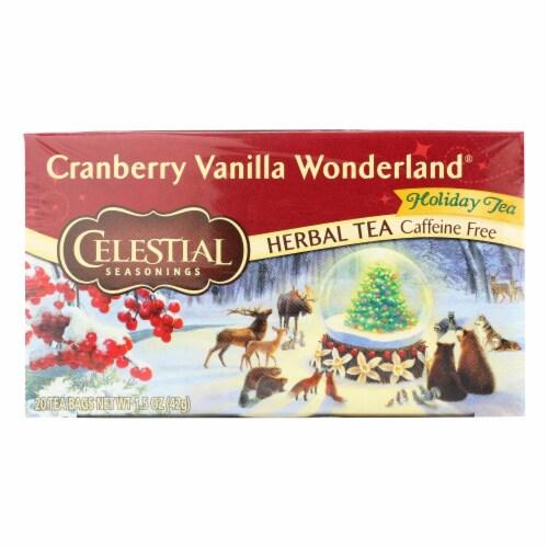 Celestial Seasonings - Tea - Cranberry Vanilla Wonderland - Case of 6 - 20 Bags Perspective: front
