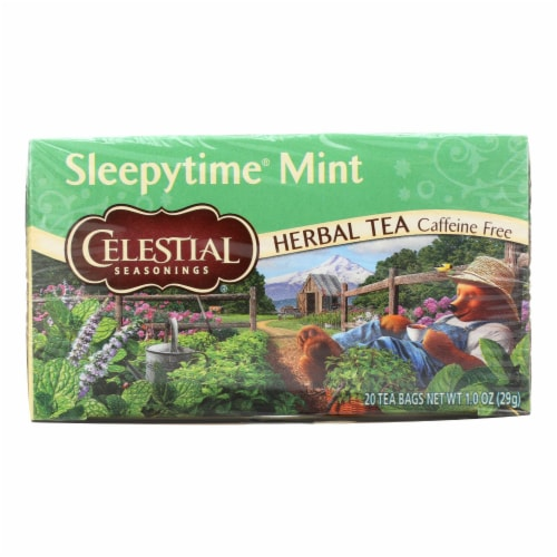 Celestial Sleepy time Herbal Tea - Mint - Case of 6 - 20 Bags Perspective: front