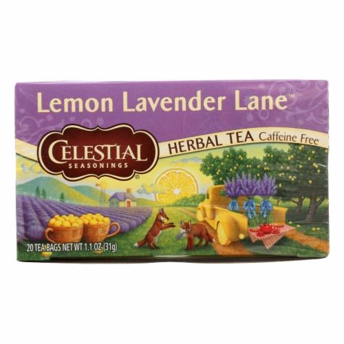 Celestial Seasonings Lemon Lavender Lane Herbal Tea Perspective: front