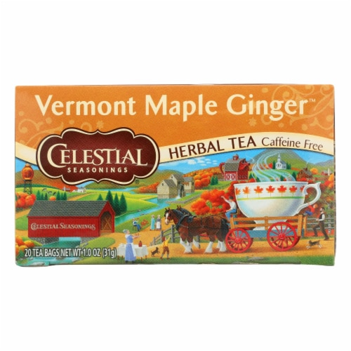 Celestial Seasonings - Tea - Vermont Maple Ginger - Case of 6 - 20 Bags Perspective: front