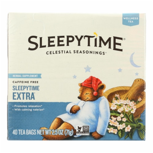 Celestial Seasonings Herb Tea - Sleepytime Extra - Case of 6 - 40 BAG Perspective: front