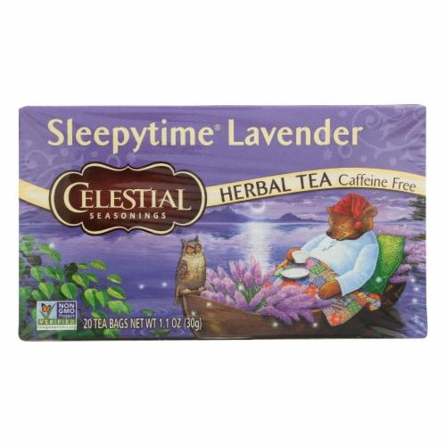 Celestial Seasonings - Tea - Sleepytime Lavender - Case of 6 - 20 Bags Perspective: front