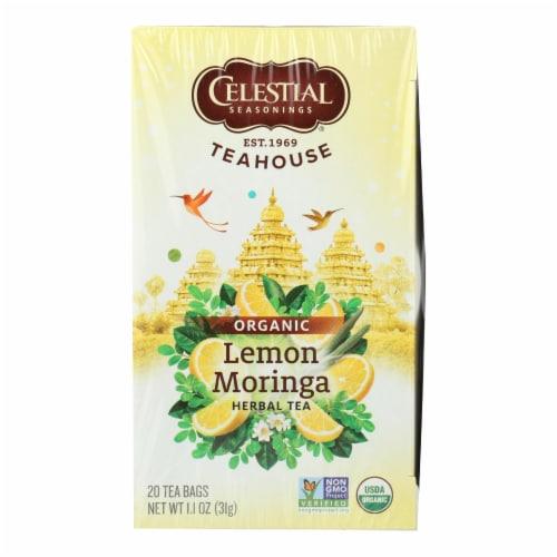 Celestial Seasonings - Organic Tea - Teahouse Lemon Moringa - Case of 6 - 20 Bags Perspective: front
