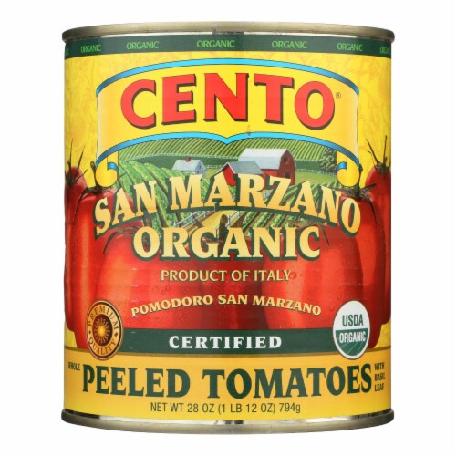 Cento - Whole Peeled Tomatoes - Case of 6 - 28 oz. Perspective: front