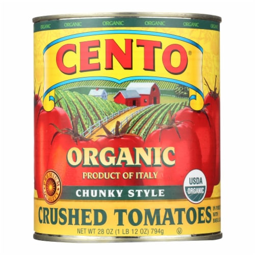 Cento - Chunky Style Crushed Tomatoes - Case of 6 - 28 oz. Perspective: front