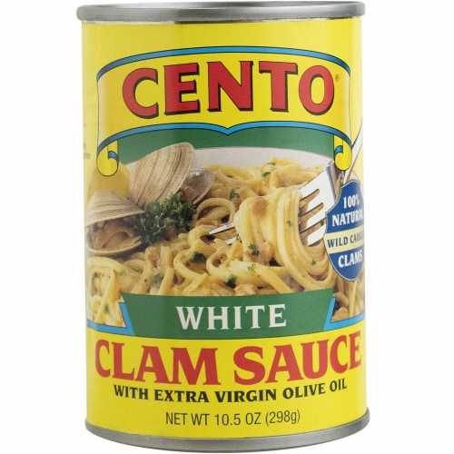 Cento 100% Natural White Clam Sauce with Extra Virgin Olive Oil, 15 oz [Pack of 12] Perspective: front