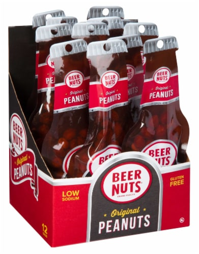 Beer Nuts Original Peanut Beer Bottle, 1.75 Ounce -- 24 per case. Perspective: front