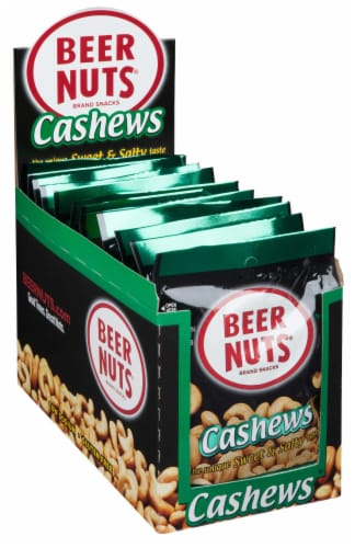 Beer Nuts Cashew, 2 Ounce - 12 per pack -- 48 packs per case. Perspective: front