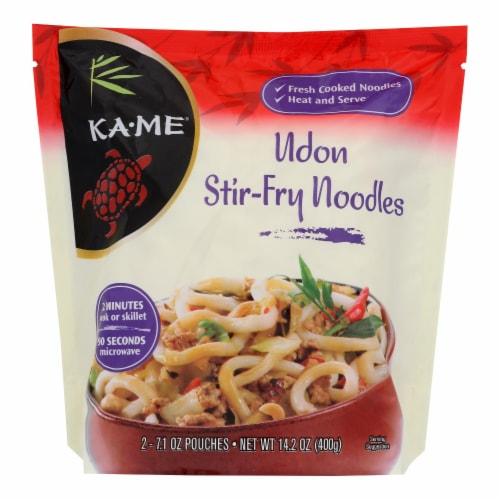 Ka'Me Udon Stir Fry Noodles - Case of 6 - 14.2 oz. Perspective: front