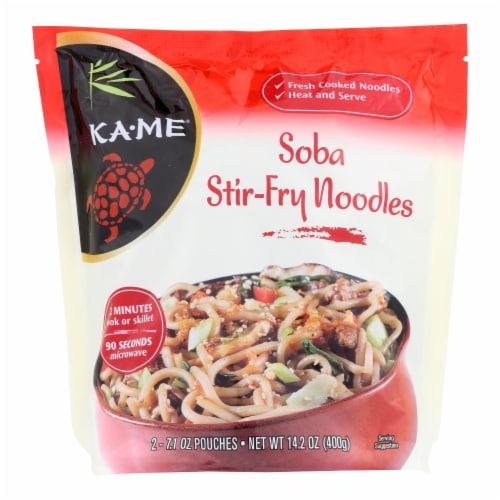 Ka'Me Soba Stir Fry Noodles - Case of 6 - 14.2 oz. Perspective: front