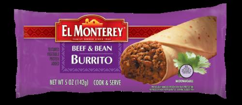 El Monterey Beef & Bean Burrito, 5 oz. (24 count) Perspective: front