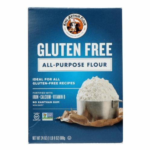 King Arthur Multi Purpose Flour - Case of 6 - 24 oz. Perspective: front