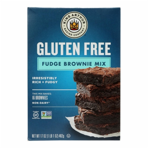 King Arthur Brownie Mix - Case of 6 - 17 oz. Perspective: front