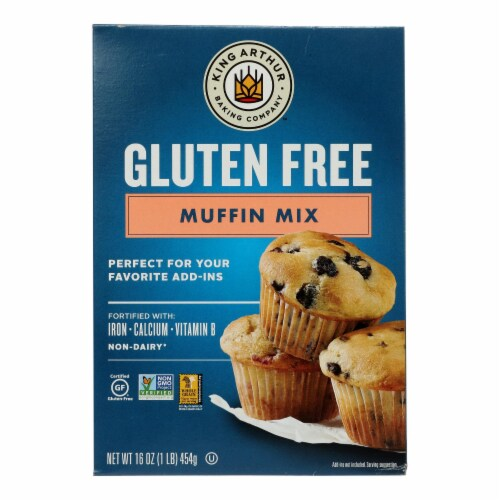 King Arthur Muffin Mix - Case of 6 - 16 oz. Perspective: front