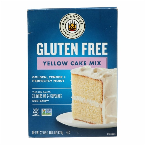 King Arthur Yellow Cake Mix - Case of 6 - 22 oz. Perspective: front