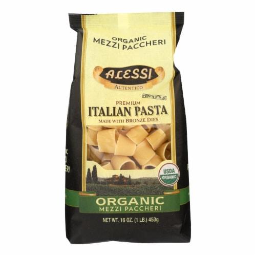 Alessi - Premium Italian Pasta - Organic Mezzi Paccheri - Case of 6 - 16 oz. Perspective: front