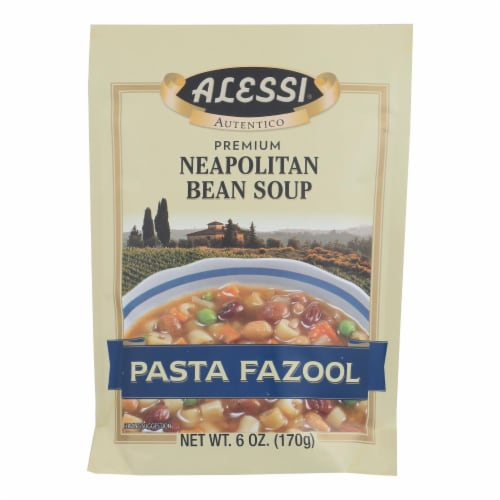 Alessi - Neapolitan Bean Soup - Pasta Fazool - Case of 6 - 6 oz. Perspective: front