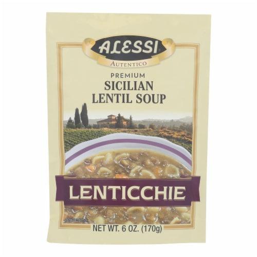 Alessi - Sicilian Lentil Soup - Lenticchie - Case of 6 - 6 oz. Perspective: front