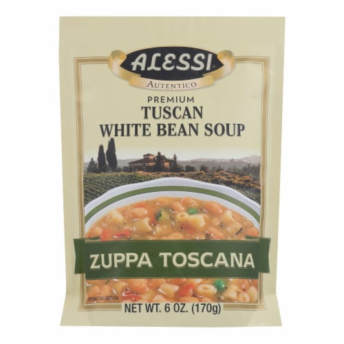 Alessi - Tuscan - White Bean Soup - Case of 6 - 6 oz. Perspective: front