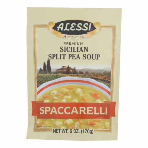 Alessi - Split Pea Soup - Spaccarelli - Case of 6 - 6 oz. Perspective: front