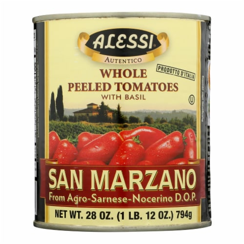 Alessi - Italian Peeled Tomatoes - Basil - 28 oz. Perspective: front