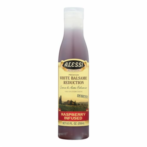 Alessi® White Balsamic Raspberry Blush Vinager - Case of 6 - 8.5 oz. Perspective: front