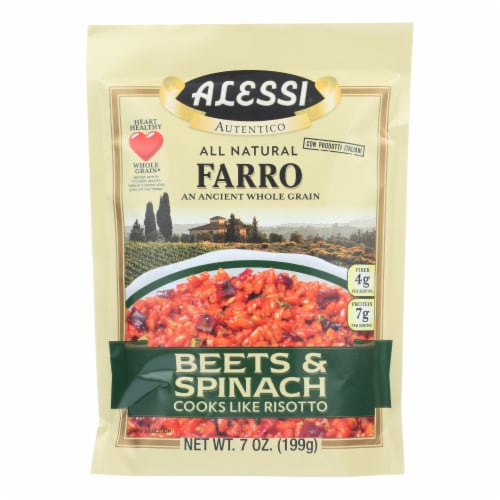 Alessi - Farro Beets and Spinach - Case of 6 - 7 Oz Perspective: front