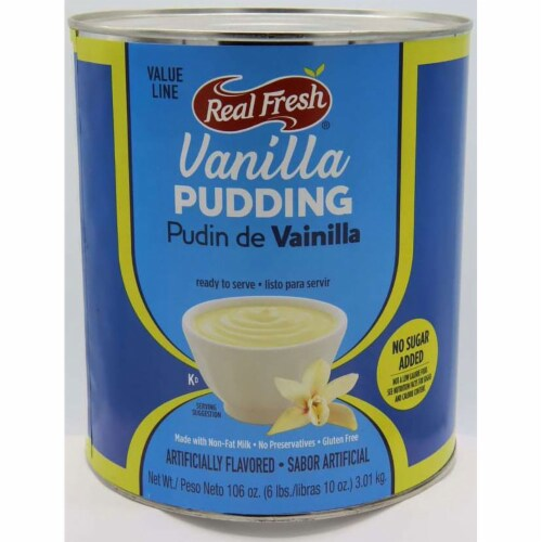 Real Fresh Cafe Classic Vanilla with Splenda Pudding, 7 Pound -- 6 per case. Perspective: front