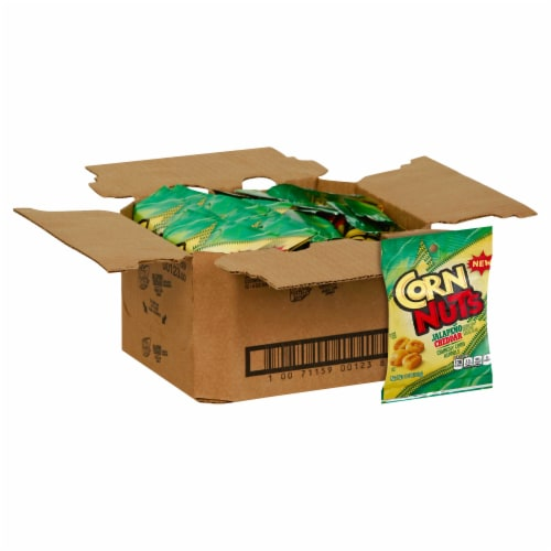 CornNuts Jalapeno and Cheddar Snack, 4 Ounce -- 12 per case. Perspective: front