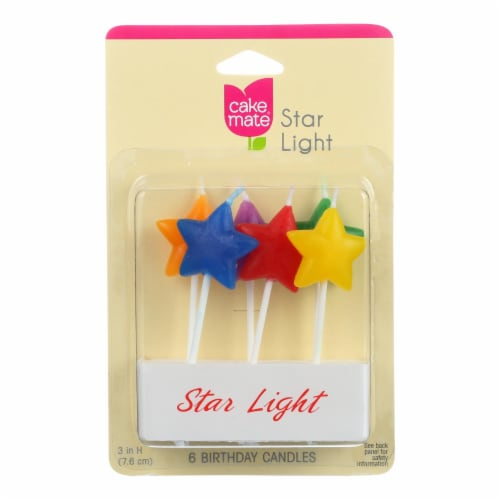Cake Mate - Birthday Party Candles - Star Light - 6 Count - Case of 6 Perspective: front