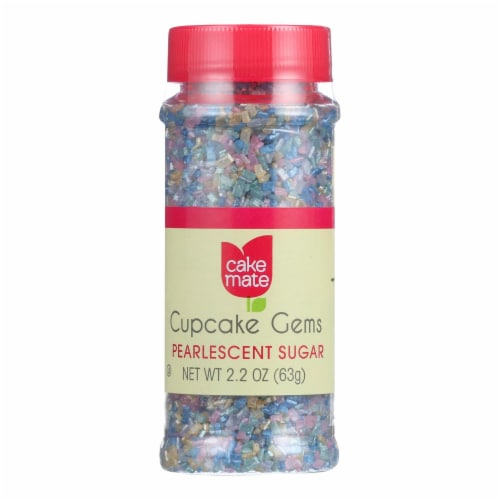 Cake Mate - Decorating Cupcake Gems - Pearlescent Sugar - 1.75 oz - Case of 6 Perspective: front