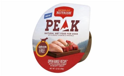 Rachael Ray Nutrish Peak Grain Free Open Range Chicken & Beef Wet Dog Food Perspective: front