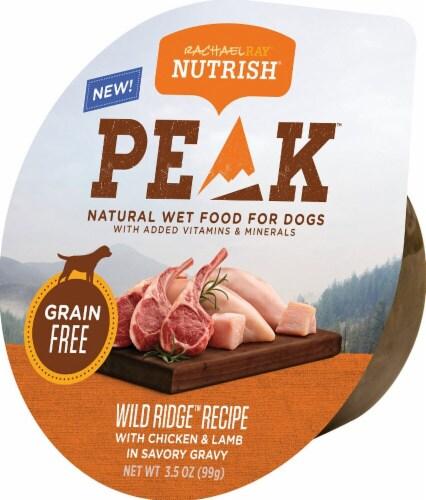 Rachael Ray Nutrish Peak Grain Free Wild Range Chicken and Lamb Wet Dog Food Perspective: front