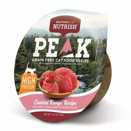 Rachael Ray Nutrish Peak High Protein Tuna and Beef Wet Cat Food Perspective: front