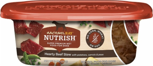 Rachael Ray Nutrish Grain Free Hearty Beef Stew Super Premium Wet Dog Food Perspective: front