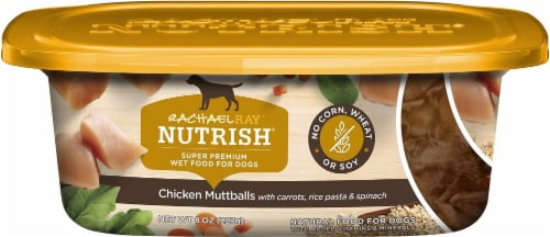 Rachael Ray Nutrish Grain Free Chicken Muttballs with Pasta Super Premium Wet Dog Food Perspective: front