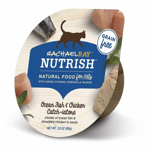 Rachael Ray Nutrish Grain Free Ocean Fish and Chicken Catch-iatore Wet Cat Food Perspective: front
