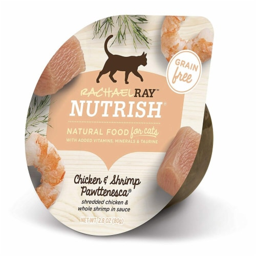 Rachael Ray Nutrish Grain Free Chicken and Shrimp Pawttenesca Wet Cat Food Perspective: front