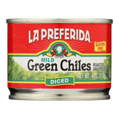La Preferida Mild Diced Green Chiles Perspective: front