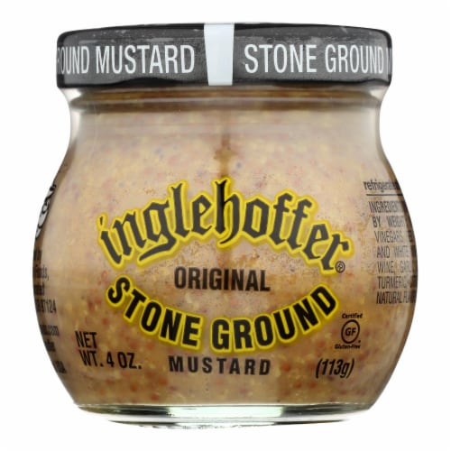 Beaverton Foods Inglehoffer Original Stone Ground Mustard  - Case of 6 - 4 OZ Perspective: front