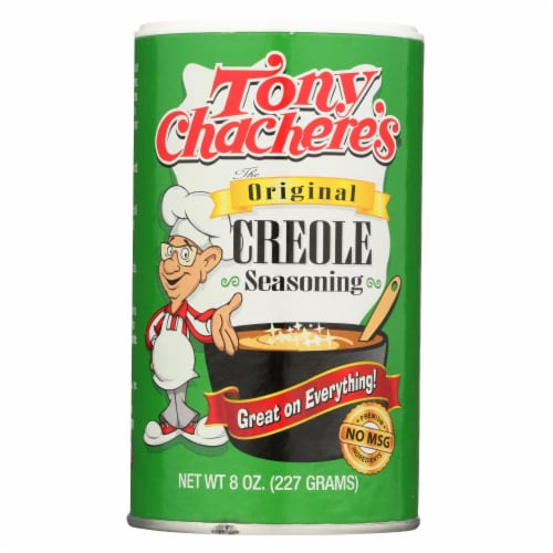 Tony Chachere's Seasoning - Creole - Case of 6 - 8 oz Perspective: front